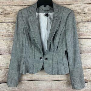 WHBM Gray Cropped Professional Blazer Size 8